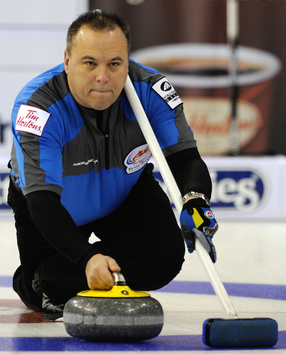 Champion du monde de quatre-temps Randy Ferbey d'Edmonton a été nommé à la Curling Temple de la renommée. (Photo, Association canadienne de curling / Michael Burns)