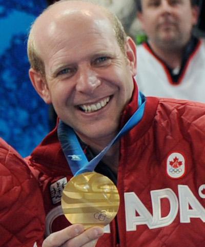 Kevin Martin a remporté l'or en tant que capitaine d'Équipe Canada aux Jeux olympiques d'hiver de 2010 à Vancouver. (Photo, ACC / Michael Burns)
