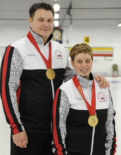 Wayne and Kim Tuck of Ilderton, Ont., won the 2014 Canadian Mixed Doubles Trials at the Ottawa Hunt and Golf Club. (Photo CCA/John Schwartzburg)